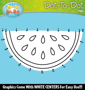 Fruits Dot-To-Dot Clipart {Zip-A-Dee-Doo-Dah Designs}