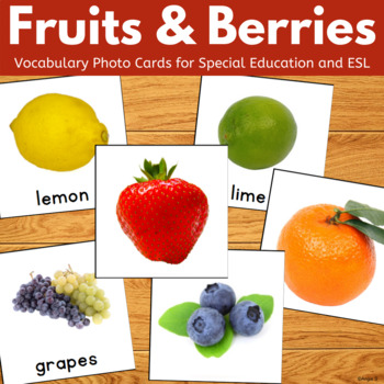Fruit Vocabulary Flashcards for Special Education, Speech Therapy, ESL