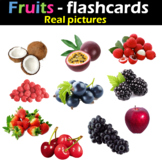 Fruits - Flashcards (Real pictures)