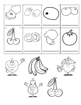 Fruits French Vocabulary Printing Page