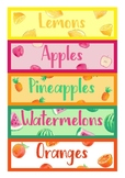 Fruits Group Labels