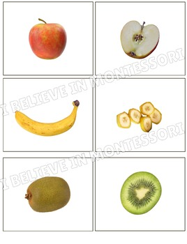Fruits Inside Matching Cards