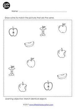Fruits Matching Worksheets and Activities