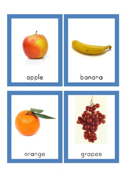 Fruits - Matching pictures to names