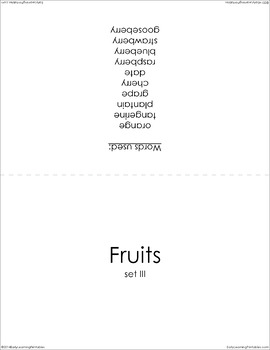 Fruits (set III) Picture Flashcards