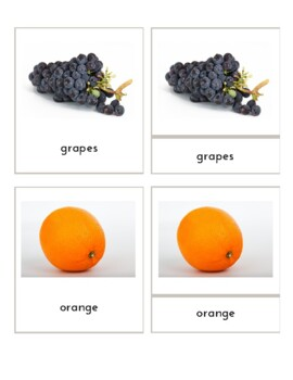 Fruits (Montessori 3-Part Cards)