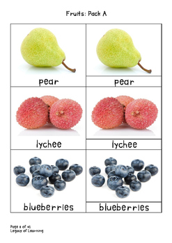 Fruits Pack A: Fun, Interactive Resources to Teach Healthy Eating