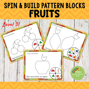 Fruits Pattern Blocks Spin and Build