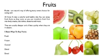 Fruits PowerPoint