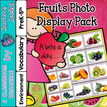 Fruits Printable Photo Posters Display Pack {UK Teaching Resource}