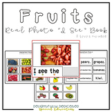 "Fruits Real Photo ""I See"" Book for Special Education Classrooms"
