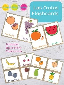 Fruits Spanish Flashcards - Las Frutas Flashcards