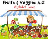Fruits & Vegetables Alphabet Matching Game A-Z