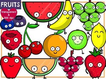 Fruits & Vegetables (BUNDLE) Digital Clip Art