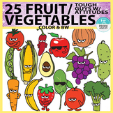 Fruits & Vegetables Clipart: Tough Guys with Attitudes