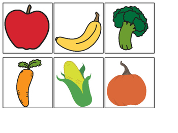 Fruits & Vegetables Matching