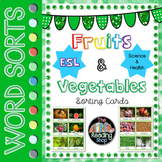 Fruits & Vegetables Sorting Cards