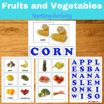 Fruits and Vegetables Spelling