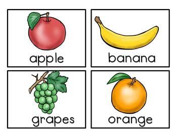 Fruits -Vocabulary Pack