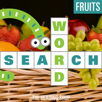 Fruits Word Search - Primary Grades - Wordsearch Puzzle