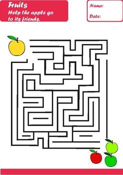 Fruits Worksheets Age 6-7