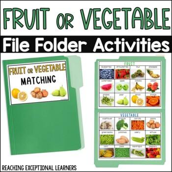 Fruit or Vegetable- File Folder Activity- Special Education