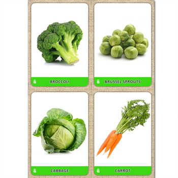 Fruits and Vegetables. Photo cards