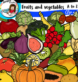 Fruits and Vegetables Alphabet pictures from A to Z.