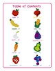 Fruits and Vegetables - Brick Building Activity Book