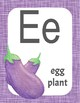 Fruits and Vegetables Classroom Alphabet Posters