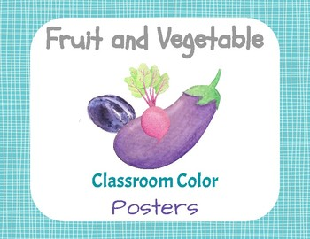 Fruits and Vegetables Classroom Color Posters