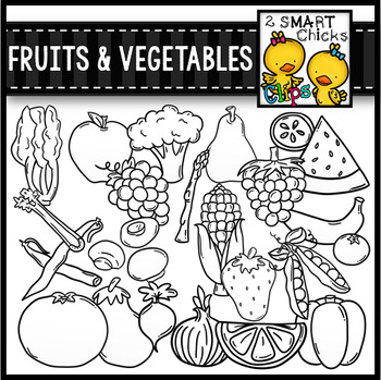 Fruits and Vegetables Clip Art