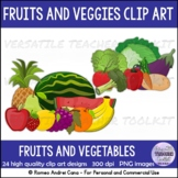 Fruits and Vegetables Clip Art Set Commercial Use