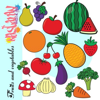 Fruits And Vegetables Clip Art By Nastaran Teachers Pay Teachers