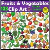 Fruits and Vegetables Clipart BUNDLE