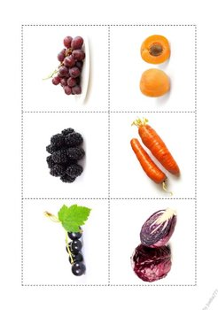 Fruits and Vegetables - Color Matching Game