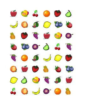 Fruits and Vegetables Connect the Dots Squares game