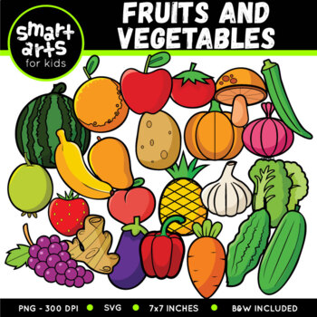 Fruits and Vegetables Digital Clip Art