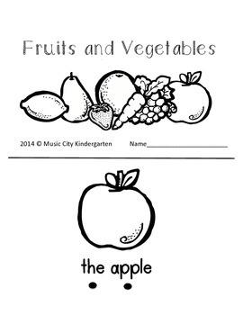 Fruits and Vegetables Emergent Reader