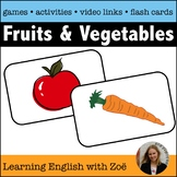 Fruits and Vegetables Flash Cards and Games for English La