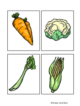 Fruits and Vegetables Flashcards FREEBIE