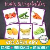 Fruits & Vegetables Flashcards:Photo Cards Vocab. (Speech Therapy, Autism, ESL)