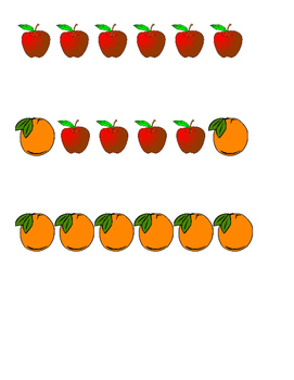 Fruits and Vegetables Pattern Cards