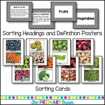 Fruits and Vegetables Photo Sort with Writing Extension Pages