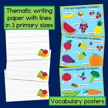 Fruits and Vegetables Sentence-Picture Match Reading Center