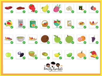 A whole lot of FRUITS Set: 100 PNG Images