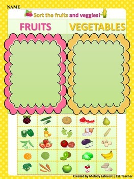 Fruits and Vegetables Sort