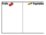 Fruits and Vegetables Sorting Acitivity