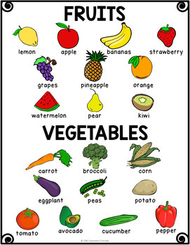 Fruits and Vegetables Vocabulary Activities for Beginning ELLs | TpT