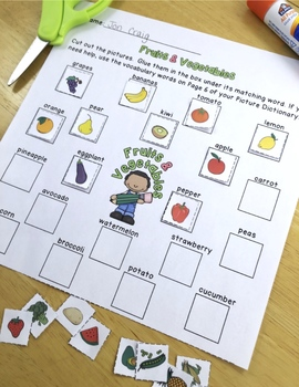 Fruits and Vegetables Vocabulary Activities for Beginning ELLs